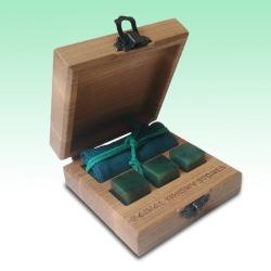 Jade Whisky Stones 3 piece set